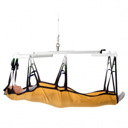 Horizontal lifting support, stepless weight adjustment