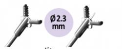 Alligátor pofa ovális, fém katéter bevonattal